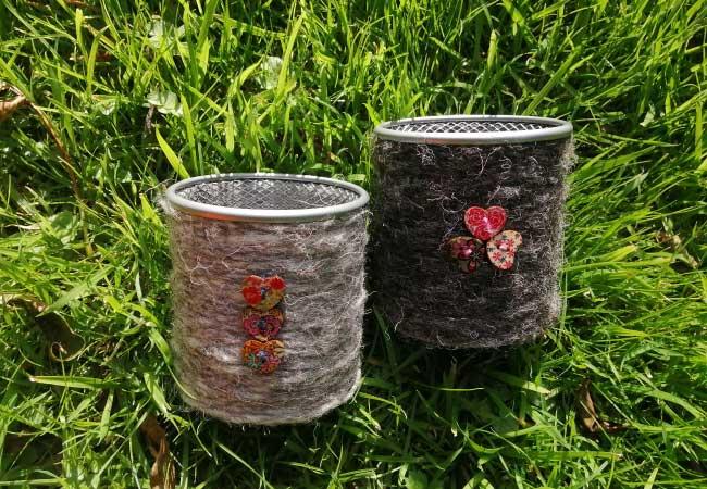 Herdwick Wool Pen Pots
